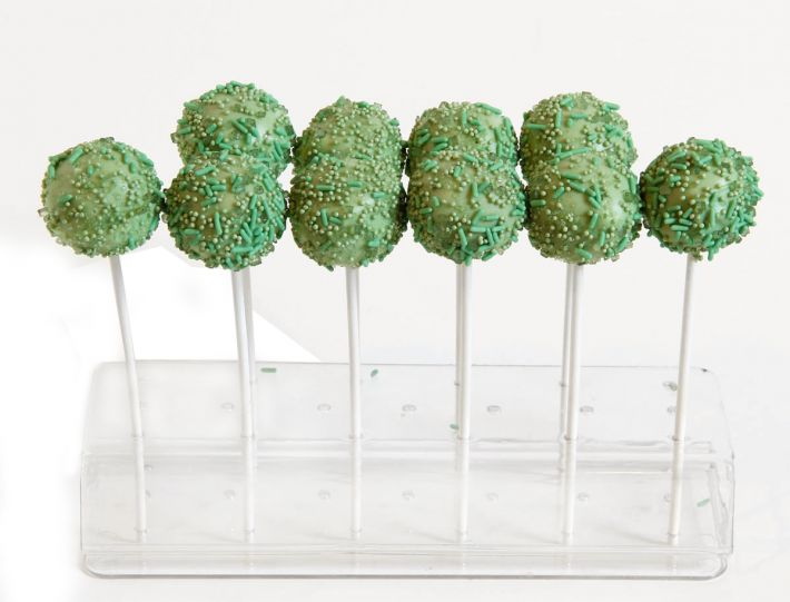 10 grüne Aprikose Orange Cake Pops