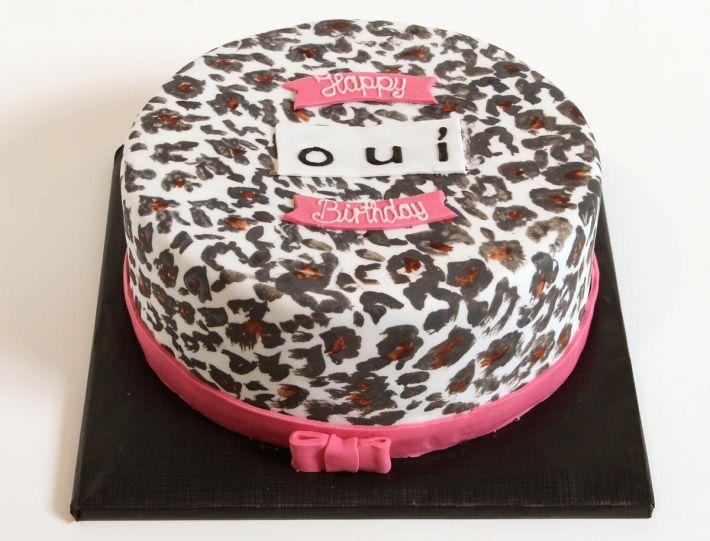 OUI Leopardenmuster Torte