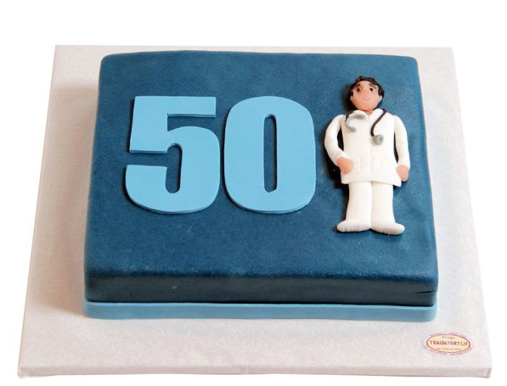 Arzt mit Zahl Torte