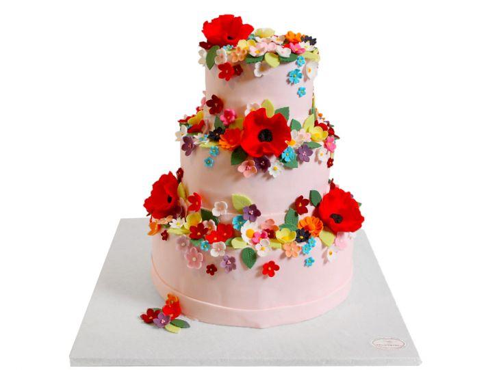 Blumenwiese Hochzeitstorte