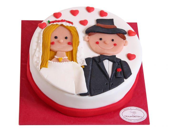 Brautpaar Liebes Torte