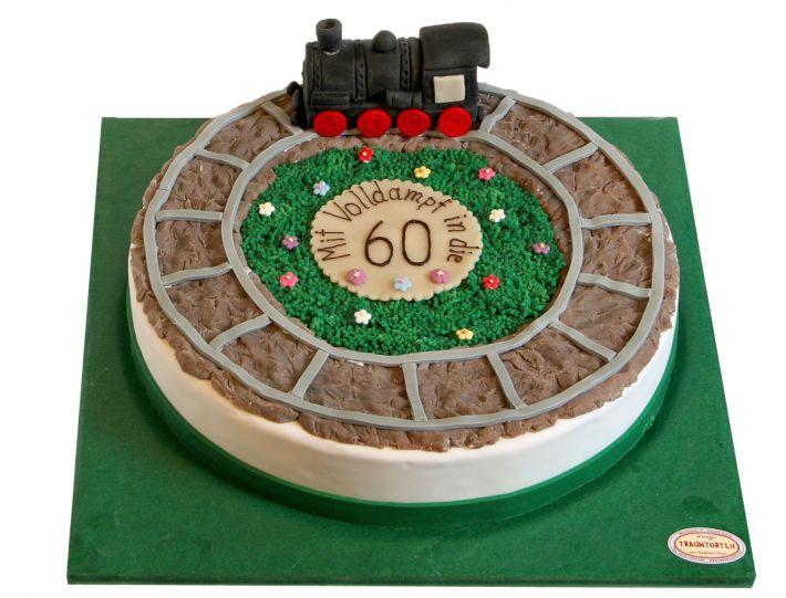 Eisenbahn Rundstrecke Torte