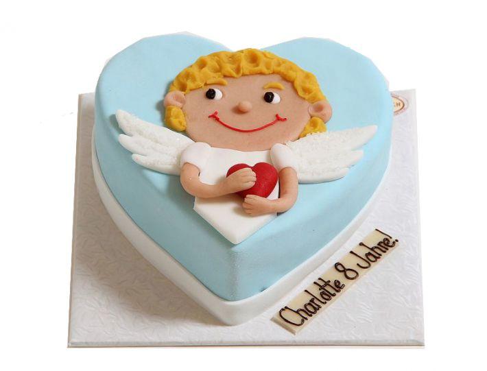 Engel mit Herz Torte