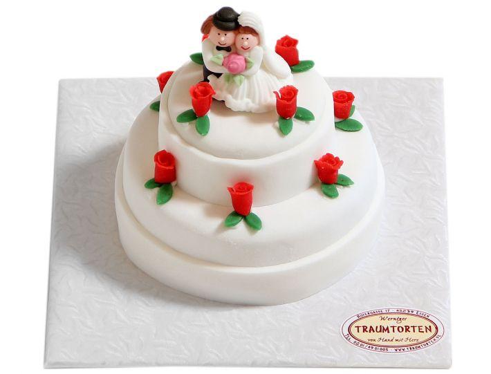 Für 2 mit Rosen Torte