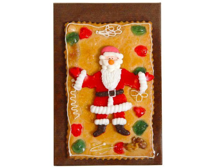 Gebäckplatte mit nettem Weihnachtsmann