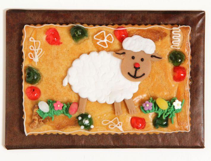 Gepäckplatte mit Lamm