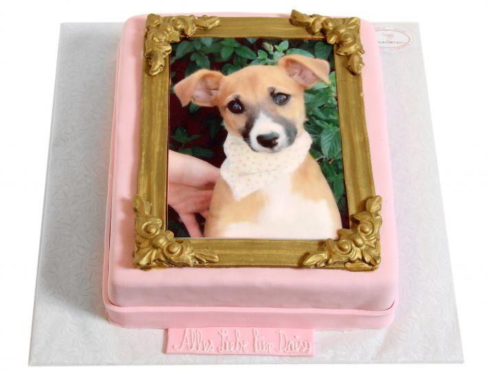 Gerahmte Tierfoto Torte