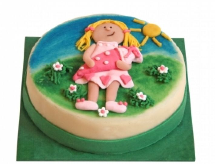 I-Dötzchen Mädchen Torte