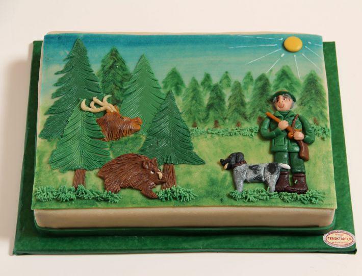 Jäger im Wald Torte