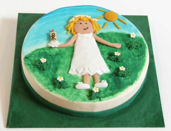 Kommunionsmädchen Torte
