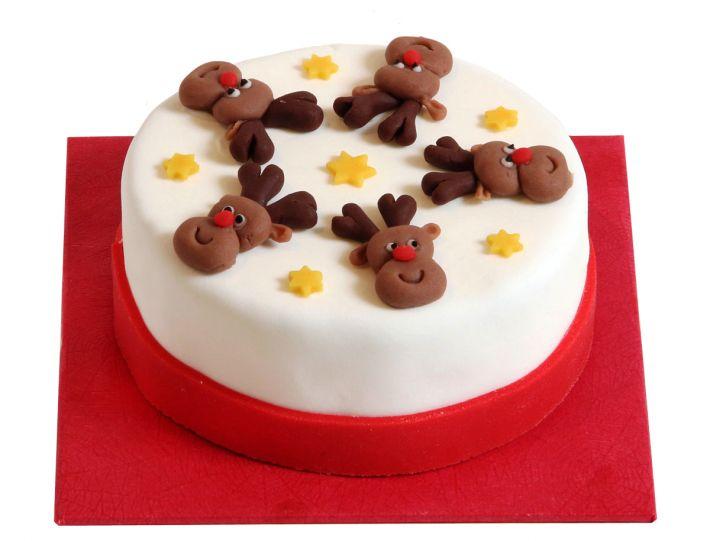 Lustige Elchköpfe Torte