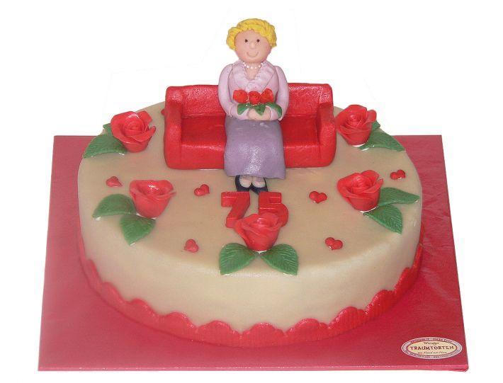 Oma auf Sofa Torte