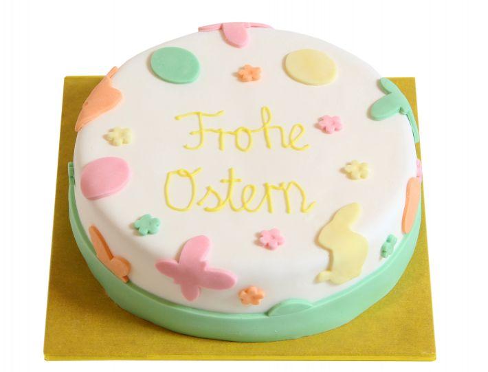 Pastellfarbene Oster Torte