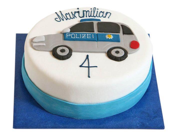 Polizeiauto Torte