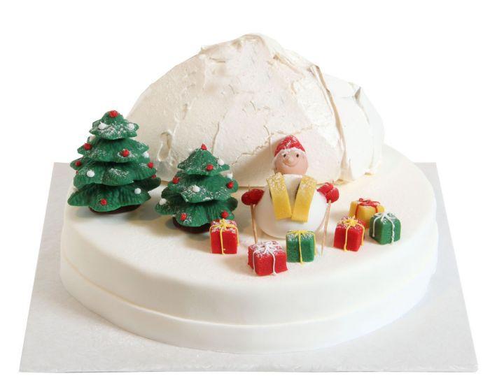 Rodelnde Weihnachtsmänner