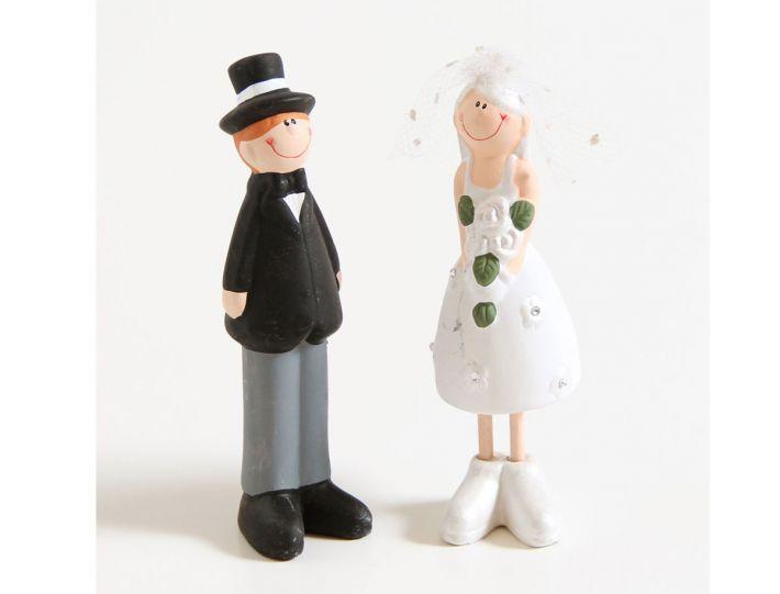 Schlankes Brautpaar