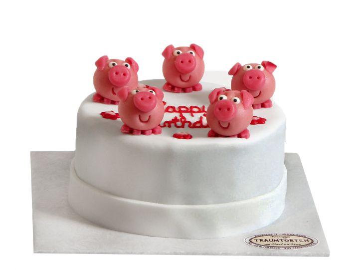 Schweinchen Torte