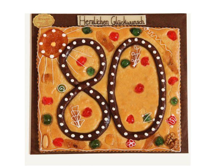Teegebäckplatte mit Zahl