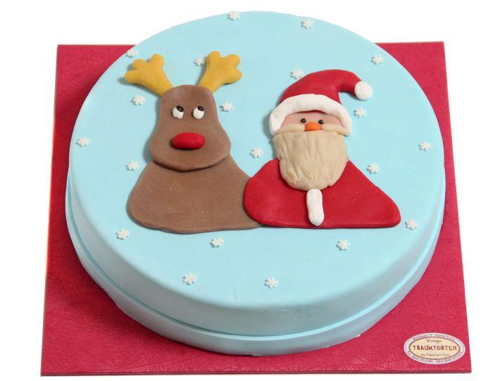 Weihnachtsmann & Rentier Torte