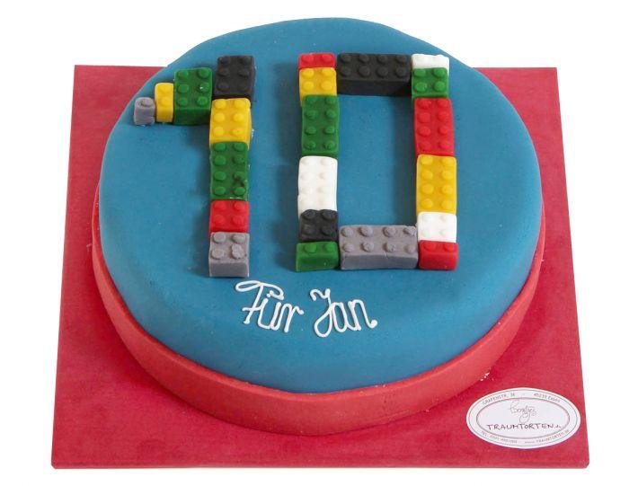Zahl aus Bausteinen Torte