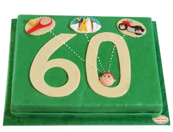 Zahl mit Gedankenblasen Torte