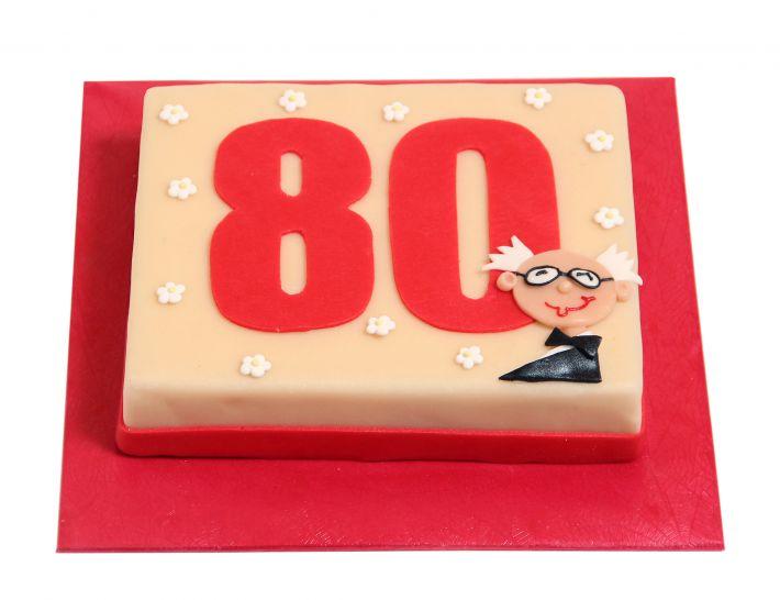 Zahl mit nettem Opa Torte
