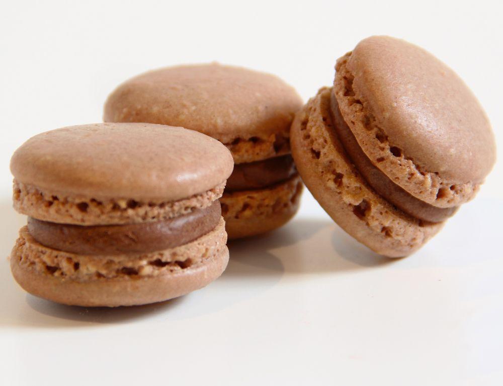 10 Schoko Macarons