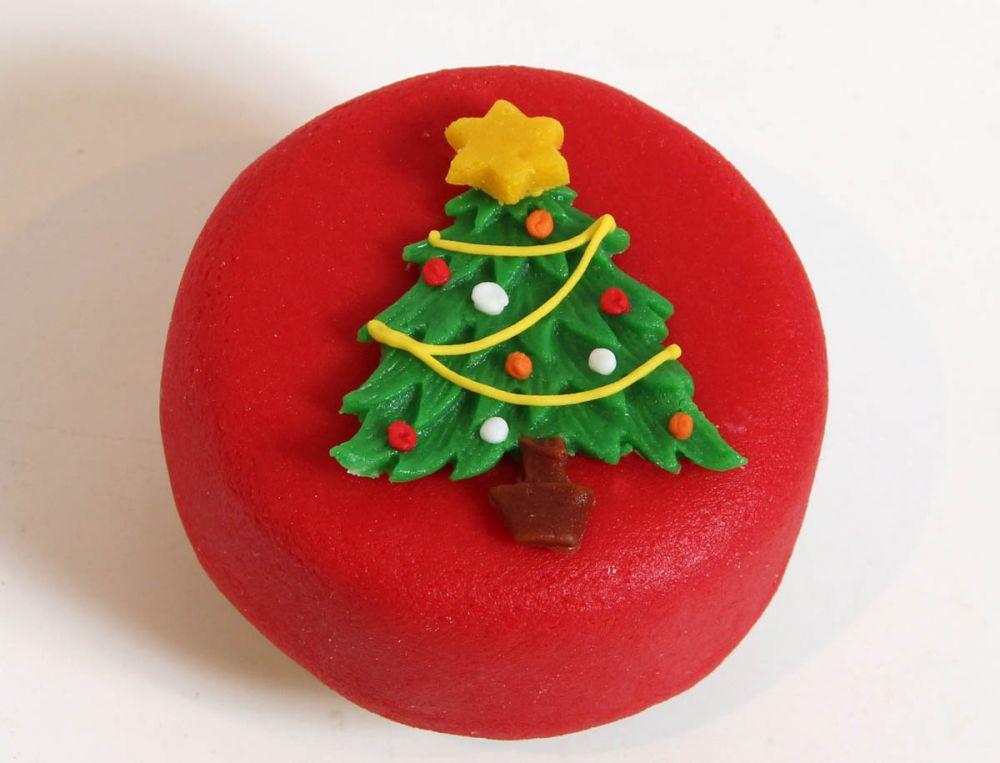 12 Weihnachts Törtchen Tanne Motiv 1