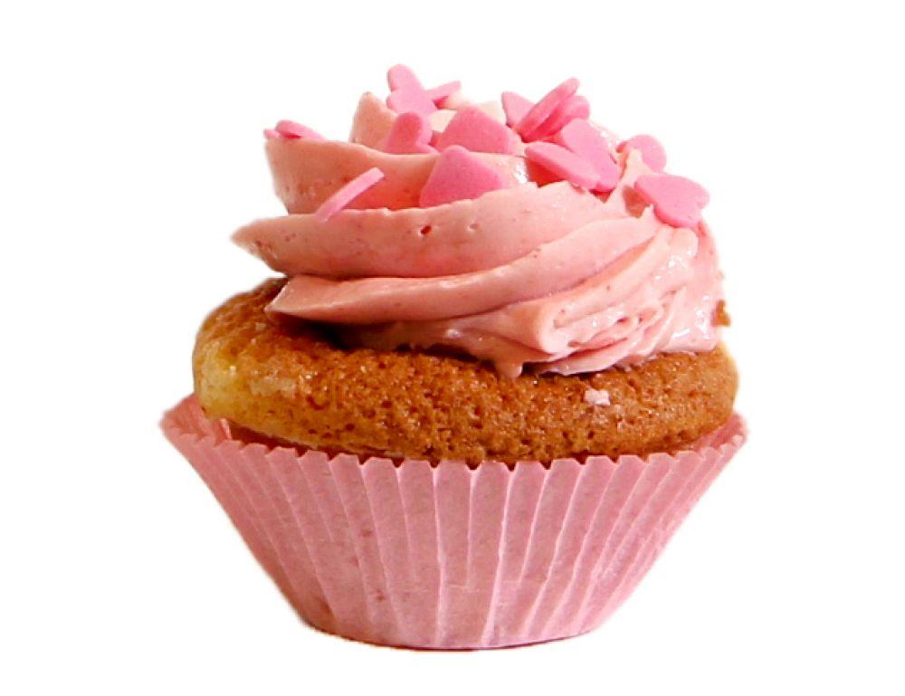 6 Erdbeer Cupcakes