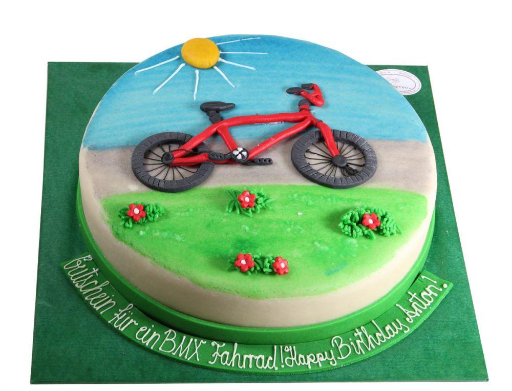 Abschied mit einem Fahrrad Torte