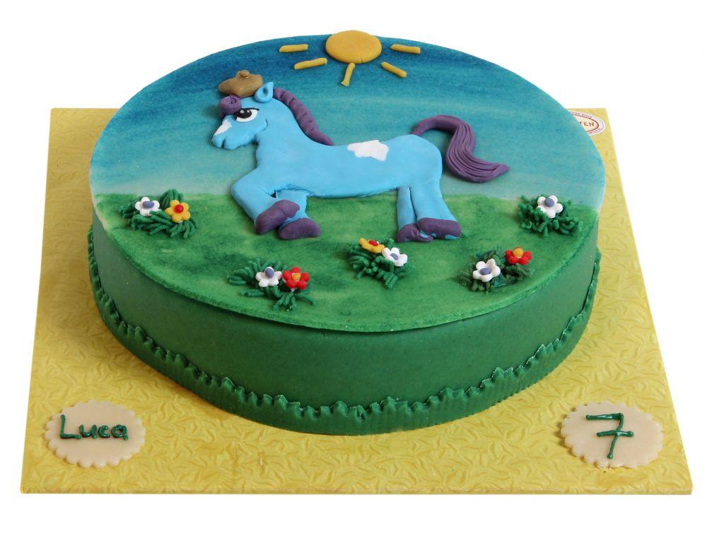 Blaues Pferd Torte