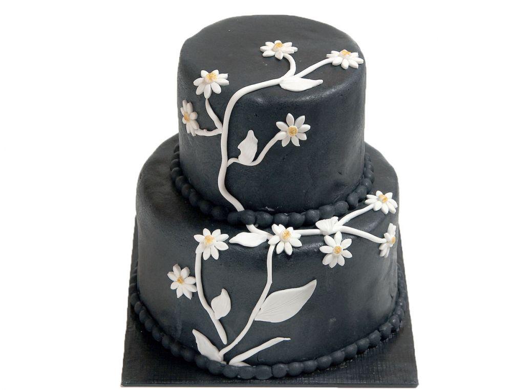 Blumenranken Hochzeitstorte
