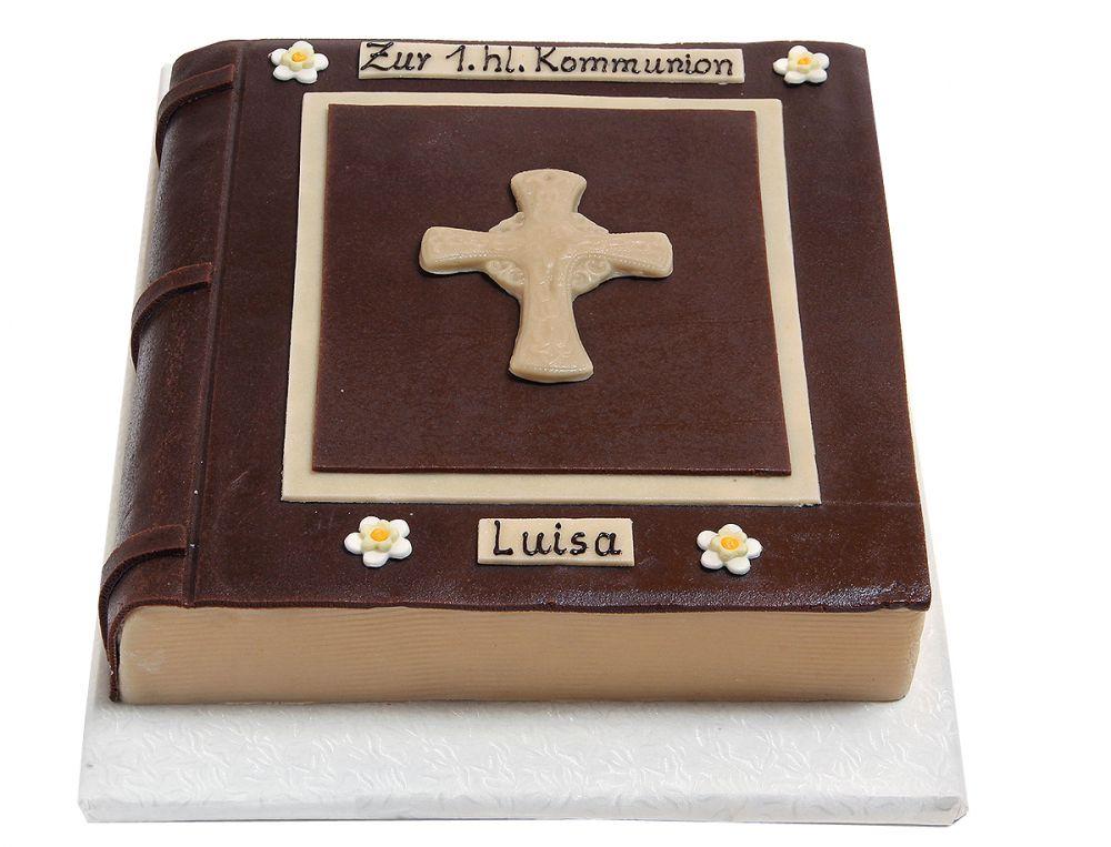 Buch mit Kreuz Torte