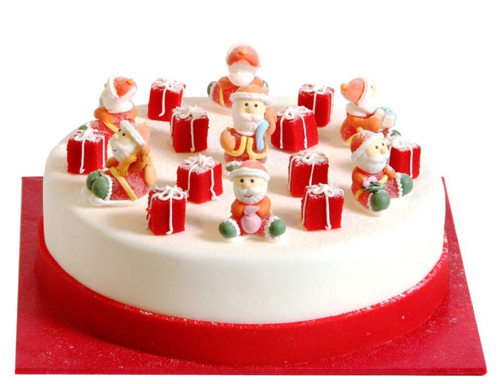 Fröhliche Weihnachtsmänner Torte