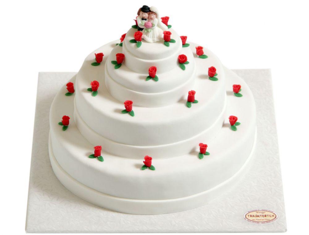 Für 10 mit Rosen Torte