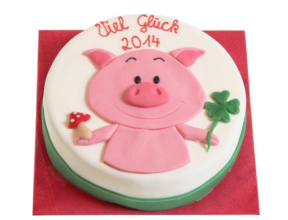 Glückliches Schwein Torte