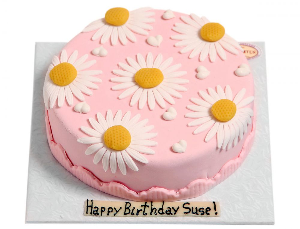 Große Margaritenblüten Torte