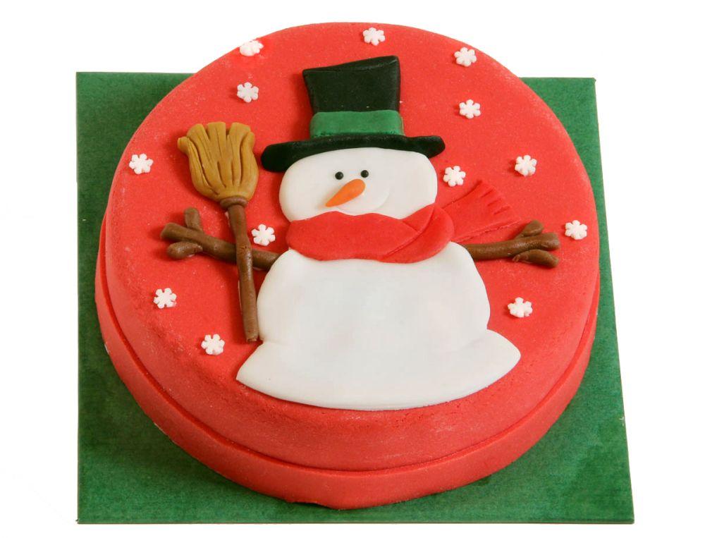 Großer Schneemann Torte