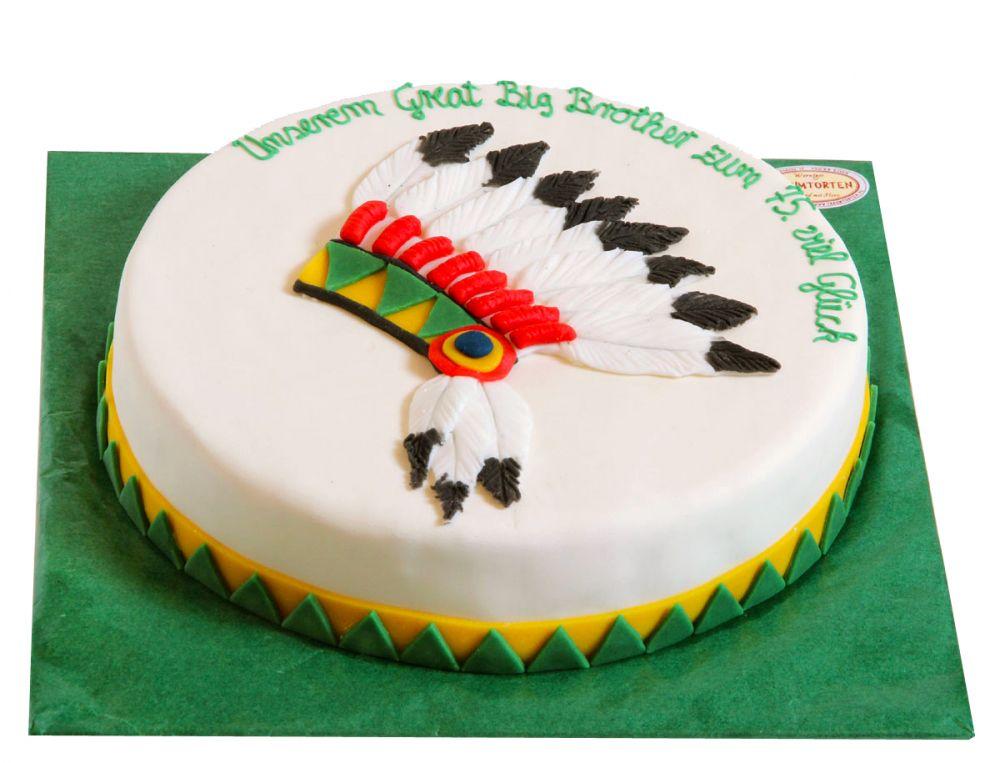 Indianer Kopfschmuck Torte