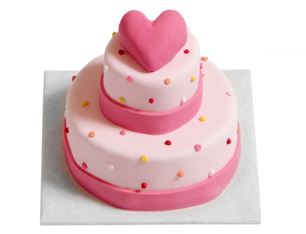 Klein gepunktete Herz Torte