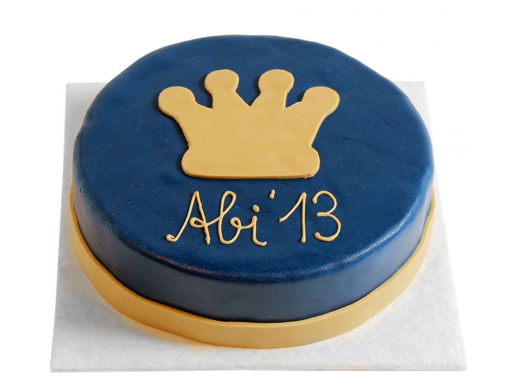 Krone blau & gold Torte
