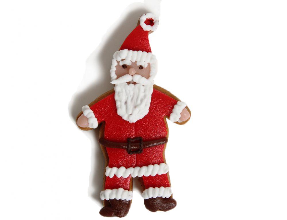 Lebkuchen - Weihnachtsmann Rot (5 Stück)