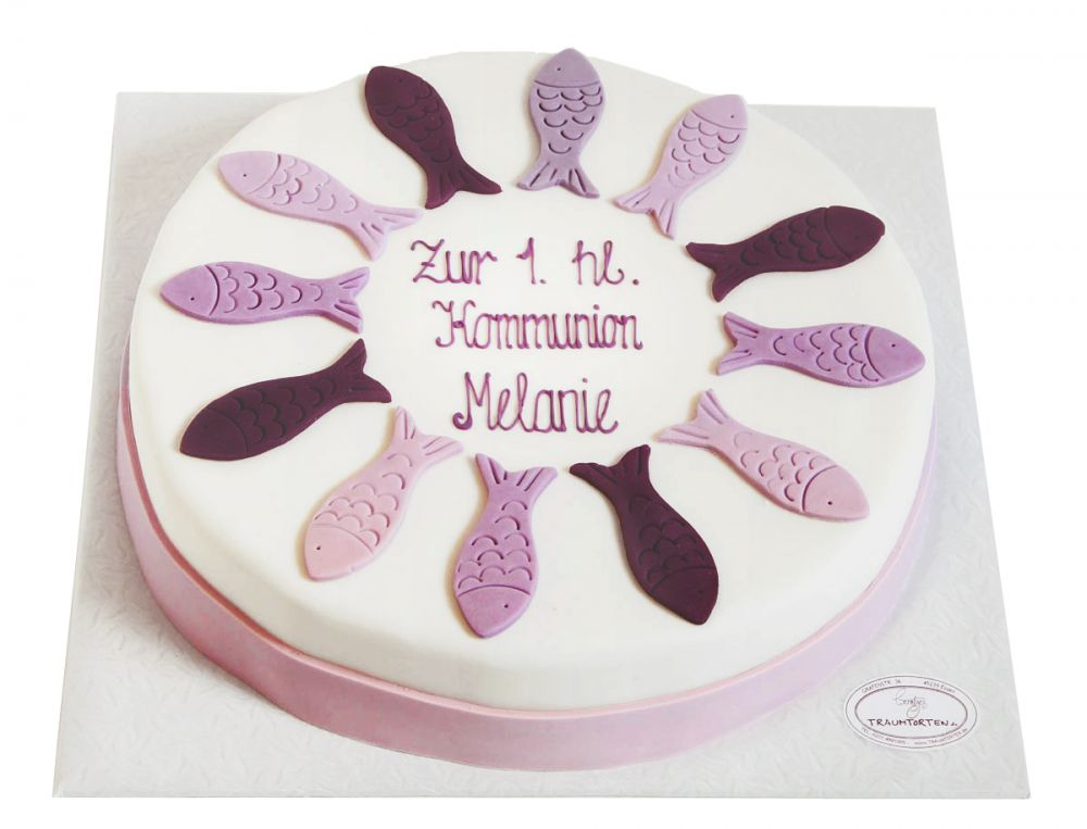 Lila Fische Torte