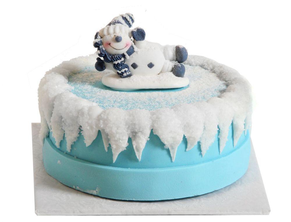 Lustiger Schneemann Torte