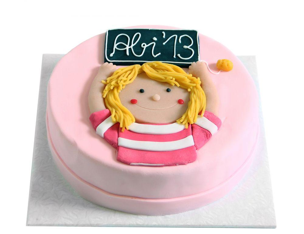Mädchen mit Schultafel Torte