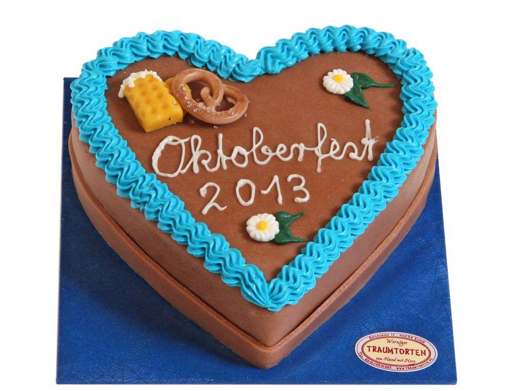 Oktoberfest Herz Torte