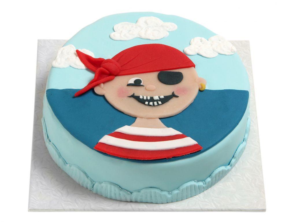 Piratenkopf Torte