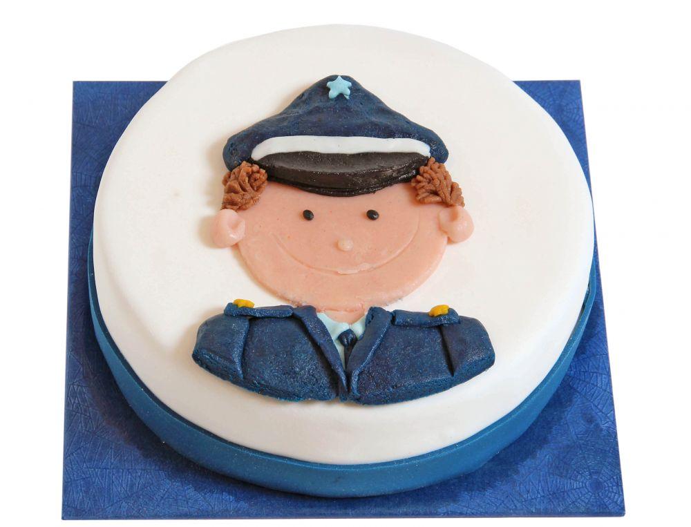 Polizistenkopf Torte