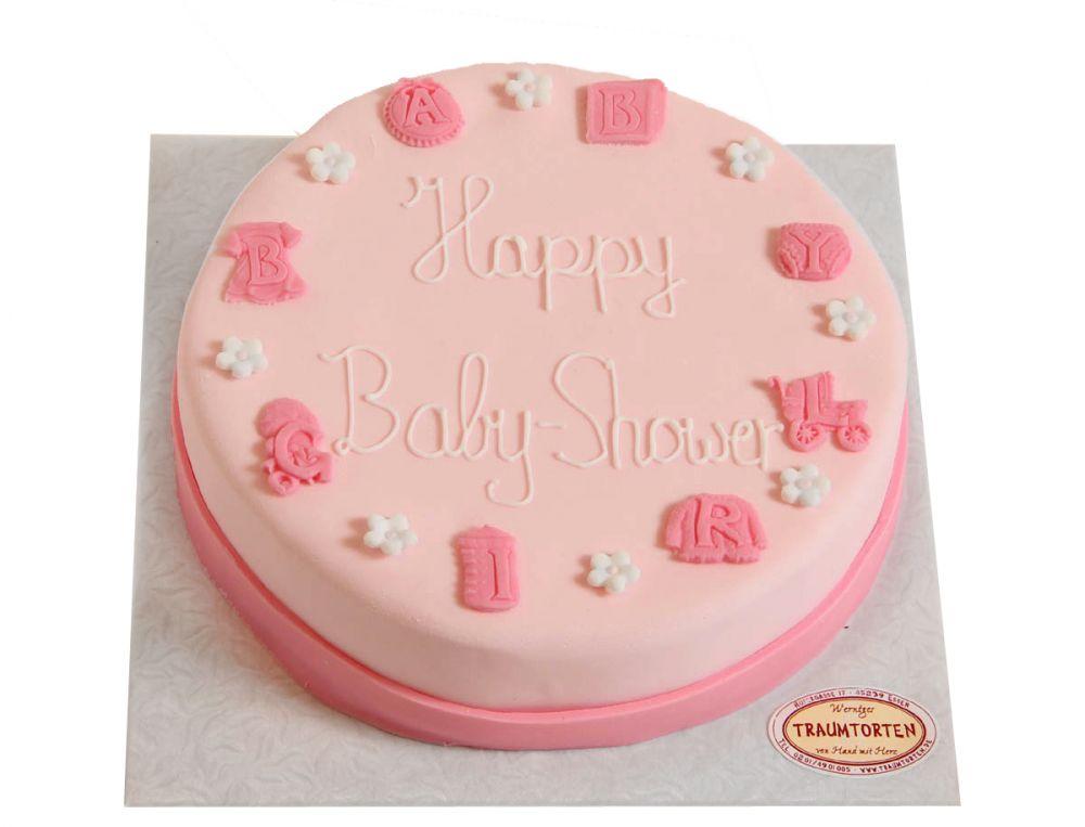 Rosa Baby Symbole Torte