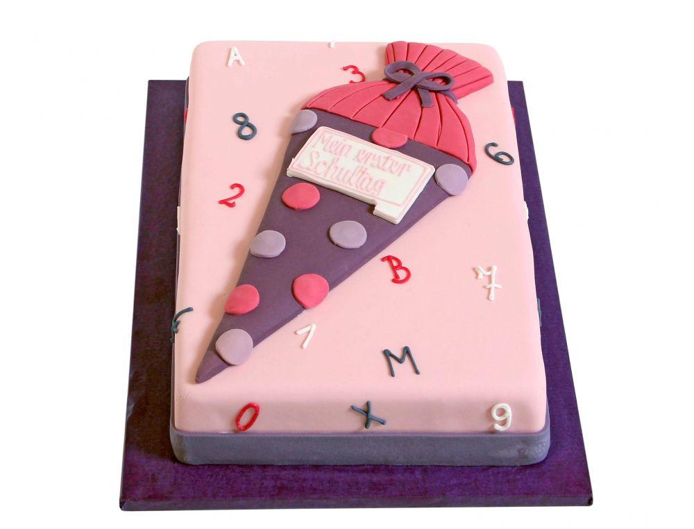 Rosa Schultüte Torte